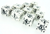 White & Black Battle D6 War Dice Set